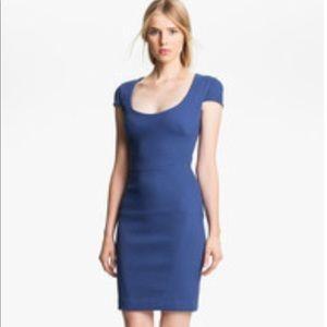 L'Agence Blue Cap Sleeve Dress
